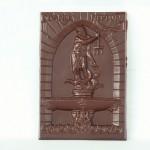 Gdańsk - fontanna Neptun, czekoladowa pocztówka