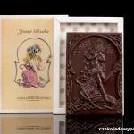 """""""Du bist göttlich"""", Schokoladenpostkarte"""