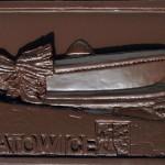 Katowice - hala Spodek, czekoladowa pocztówka