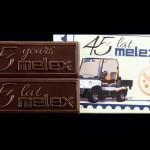 Firma Melex, Schokoladenvisitenkarte