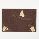 Weihnachtliche Grüße, Schokoladenpostkarte