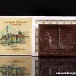 Warschau - Siegessäule, Schokoladenpostkarte