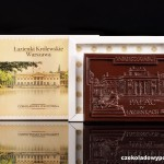 Warschau - Wasserpalast, Schokoladenpostkarte