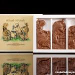 """Lustige Kühe"", Schokoladenpostkarte"