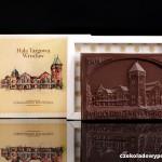 Breslau - alte Markthalle, Schokoladenpostkarte
