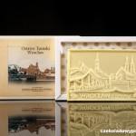Breslau - Dominsel, Schokoladenpostkarte (weiße Schokolade)