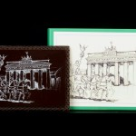 Berlin - Brandenburger Tor (Grafik), Schokoladenpostkarte