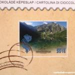 Verpackung Schokoladenpostkarte
