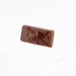 Dessert chocolate 55%, size ca. 30x60x8 mm, weight ca. 12 g.