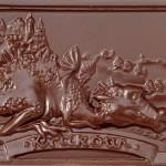 Kraków - smok, czekoladowa pocztówka