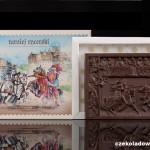 """Ritterspiele"", Schokoladenpostkarte"