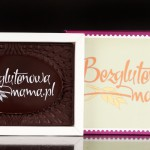 Schokolade Postkarte glutenfreie Mama
